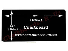 "LARGE CHALKBOARD BLACKBOARD MENU BOARD  48"" x 24""  -  1220mm x 610mm"