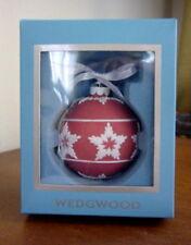 Wedgwood Jasperware Star Relief - Red Christmas Ornament - Rare - New In Box!