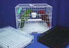 PERFECT PARROT TRAVEL CAGE +3-10 oz cups +pedicure perch-sturdy but light weight