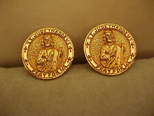 14k GOLD CUFFLINKS ST JUDE THADDEUS CATHOLIC ? Custom/OOAK? Large & Heavy 25.8gm