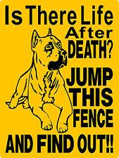 PIT BULL PITBULL DOG SIGN ALUMINUM GUARD WARNING VINYL GRAPHICS APPLIED 3292A