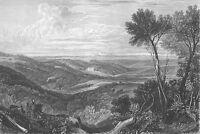 England, SUSSEX Ashburnham Place Mansion LANDSCAPE ~ 1865 Art Print Engraving