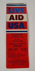 Rare LIVE AID USA 1985 JFK Stadium used Concert Ticket Dylan
