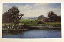 "PHILIP STANTON ""the mooring"" RARE OUT OF PRINT fine art print"