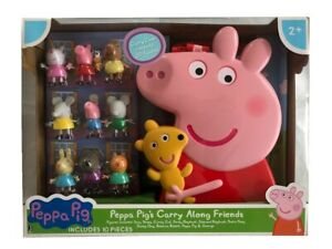 Peppa Pig Peppa's Carry Along Friends Case & 9 Figures Figure Toy Playset
