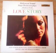 """Hollywood Sound Stage Orchestra plays """"Love Story"""" film theme Vinyl record LP"""