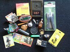 Mens Junk Drawer Lot, Us P O Box Door, Coleman Multi tool, Kodak Disk, Dime Tube