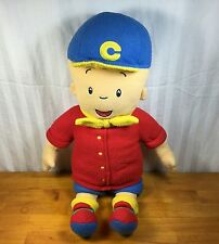 "Caillou Huge 24"" Plush Cuddle Pillow Buddy Doll Pbs Sprout Big Large Fleece"