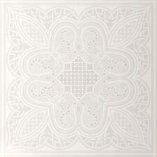 Pailleté Blancs Floral Geo Motif Papier Peint Texturé - J78600