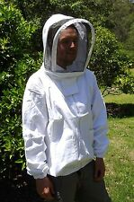 SALE-NEW 100% Cotton Beekeeping Bee Veil shirt Jacket with Hat- 2 sizes