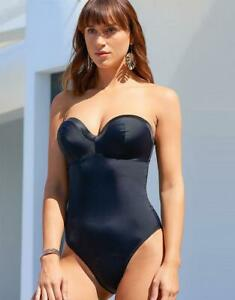 POUR MOI? LADIES JET SET PADDED SWIMSUIT ~ BLACK ~ UNDERWIRED ~ BNWT ~ *RRP £42*