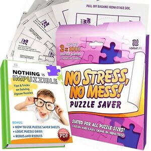 AGREATLIFE New Improved 14 Sheets No Stress, No Mess Puzzle Saver - Puzzle Glue