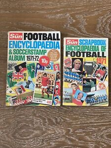 Very Old Sun Encyclopaedia Of Football Scrapbook 1971 And 1972 Stamp Album