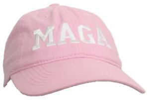 Tropic Hats Embroidered MAGA Trump 6 Panel Ballcap W/Strapback Closure - Pink