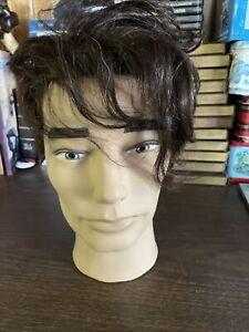 Pivot Point Male Mannequin Head Samuel MLMGIDML  Dark Human Hair