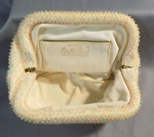 Vintage Corde Bead By Lumured Evening Bag Purse Clutch 1950 -1960