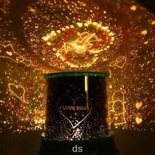 Romantic Cupid Heart Night Light Star Projector Cosmos Constellation Lamp Gift