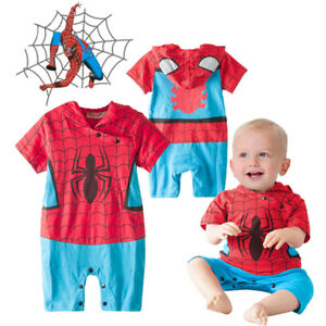 Baby Boy Spiderman Hero Fancy Dress Costume Outfit Party Birthday School Play