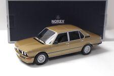 1:18 Norev BMW 535i Limousine 1980 gold NEW bei PREMIUM-MODELCARS