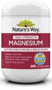 Magnesium High Strength 600mg 300 Tabs x 3 Pack Nature's Way