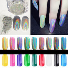 Chrome Metallic Mirror Effect Glitter Magic Shiny Nail Art Powder Diy Decoration