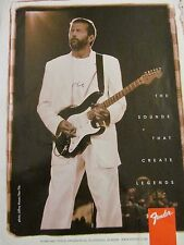 Eric Clapton, Fender Guitars, Full Page Vintage Promotional Ad