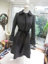 New listing Monsoon classy ladies check Victorian style lined wool mix coat velvet detail10