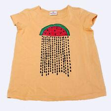 Hanna Andersson Girls Watermelon Velvet Raindrops SS Graphic Top 10 (140) kfp1