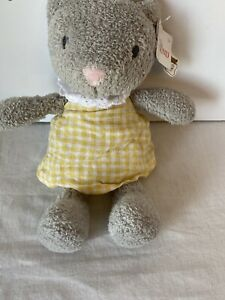 "Baby GUND Gray Grey Cat 9 1/2"" Plush Soft Stuffed Animal Mimi Meadow Clove w/tag"