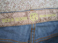 Rich & Skinny Womens Size 27 Blue Dark Wash Denim Stretch Slim Jeans Made in USA