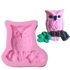 Big Body Owl Shape 3D Silicone Cake Fondant Mold Soap , Cake Decoration Tools