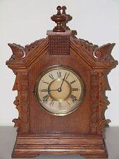 Antique Working 1894 ANSONIA Toronto Victorian Walnut Parlor Mantel Shelf Clock