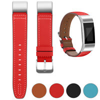 For Fitbit Charge 2 Replacement Leather Wristband Wrist Strap Watch Band Red U