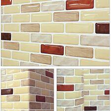 "5.3""/13.4cm Beauty Safe Foil On Fire Easy 3D Tile Wallpaper Sticker SAMPLE Brown"