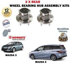 Para Mazda 3 5 1.4 1.6DT 2.0 2.2DT 2.3 MPS TURBO 2003 - > 2X Rear hub cojinete de la rueda