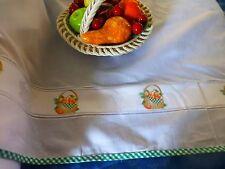 étagéres cuisine ou rideaux  54cm haut ,la frise aux fruits ,bords verts,vichy