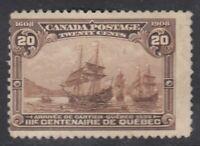 "Canada MINT OG Scott #103 20 cent Cartier's Arrival ""Quebec Tercentenary""  F *"