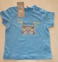Tee-shirt bleu neuf taille 3 mois marque Grain de Blé