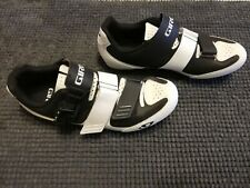 Giro Apeckx II Black / White Road Cycling Shoes Size 42 / 8, Excellent Condition