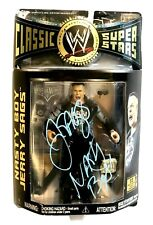 Wwe Classic 12 Jerry Sags Hand Signed Autographed Toy Action Figure With Coa