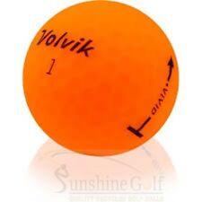 12 AAA Volvik Vivid Matte Orange Sherbet Used Golf Balls (3A) - FREE SHIPPING