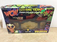 1998 WCW Goldberg Electronic Talking Champion Belt & Wrestling Set Open Box