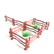 10x Kids Military Sand Scene Toy Accessories Mini Simulation Double Hook Fence |