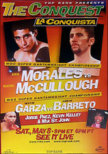 Original Erik Morales vs Wayne McCullough Boxing Fight Poster Fight Poster