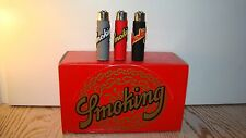 ACCENDINI SMOKING/CLIPPER-SMOKING CULT 1998-ULTIMO SET-LIGHTERS-MECHEROS-BRIQUET