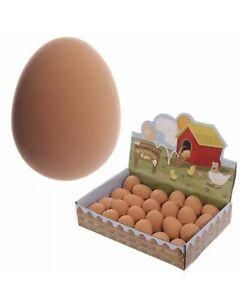Bouncy Egg Realistic Bouncing Joke Fake Egg Rubber Toy Balls For Kids Great Fun