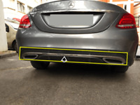 Mercedes C Class W205 AMG 2014-2018 Chrome Rear Bumper Streamer 1Pcs S.Steel