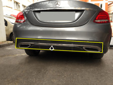 Mercedes C Class W205 AMG 2014-2018 Chrome Rear Bumper Streamer 1Pcs S.Steel