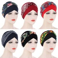 Ladies Cancer Hat Chemo Cap Womens Muslim Hair Loss Turban Head Wrap Cover Hat