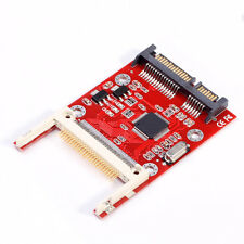 "Compact Flash CF Card Mini PCI-e to 2.5"" SATA SSD Hard Drive Disk PC Adapter Red"
